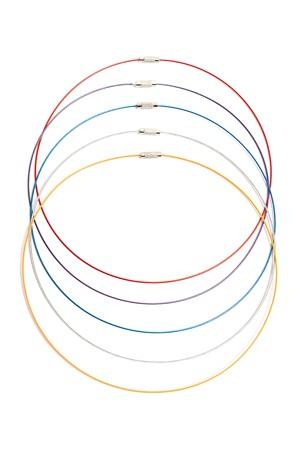 Náhrdelník na kovovém lanku - jaspis