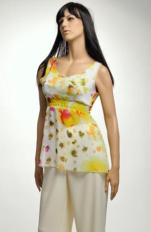Tunika ze šifonu s květy - sleva