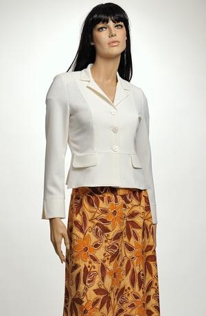 Šaty s řasením na boku a s výraznými okrovými květy