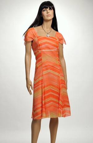 Letní společenské šaty ze šifonu