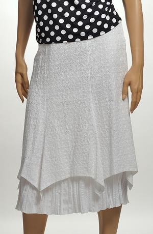Bílá madeirová sukně