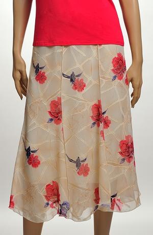 Letní sukně ze šifonu- sleva