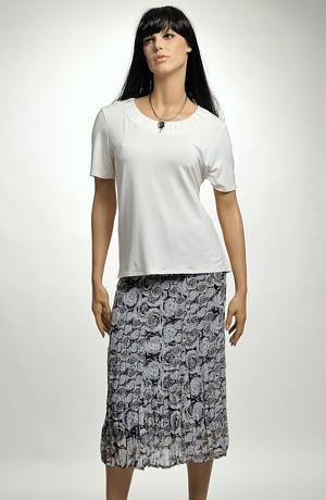 Dámská sukně z krešovaného šifonu - sleva