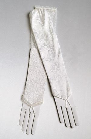 Saténové svatební rukavičky a návlek\y