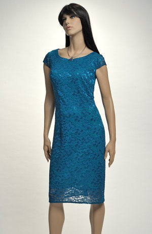 Elegantní dámské poudzdrové koktejlové šaty z krajky, vel. 44, 46, 48, 50, 52
