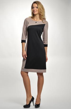 Dámské elastické šaty vhodné do práce - kanceláře, recepce...