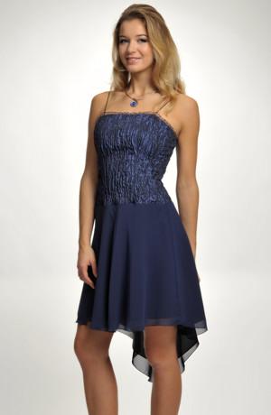 Krátké společenské šaty s korzetovým živůtkem z plastické tkaniny, vel. 36, 38, 40, 42