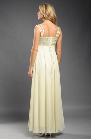 Luxusní společenské šaty se sedlem z bruselské krajky, vel. 40, 42