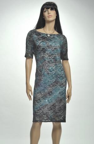 Dámské krajkové společenské šaty s rukávky. Vel. 40, 42, 44,