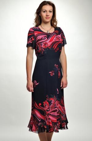 Letní dámský komplet - šaty se sáčkem.