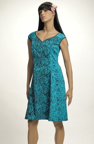 Společenské šaty na širší raglánová ramínka