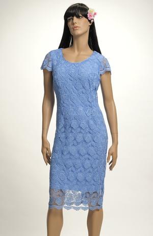 Krátké společenské šaty pro plnoštíhlé. Velikosti 46, 48, 50..., i pro boubelky