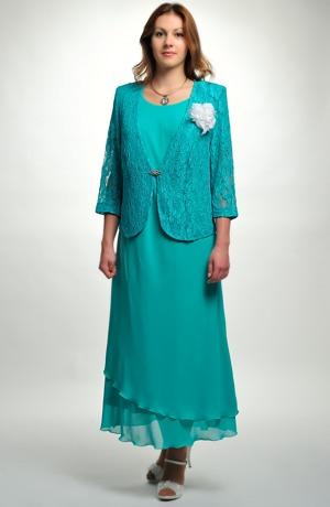 Dámský společenský kostýmek - dvojkomplet-šaty a kabátek