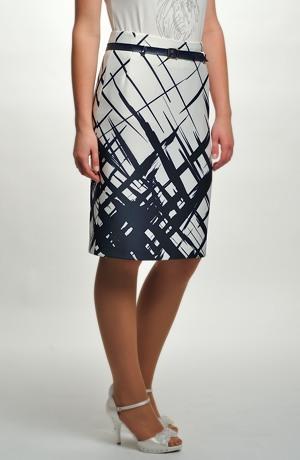 Úzká sukně s grafickým vzorem