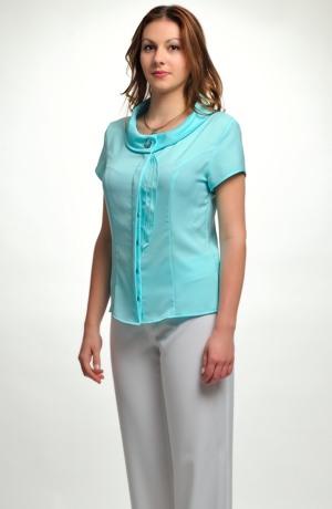 Dámská elastická košile s ohrnutým límcem