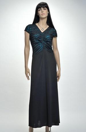 Elegantní dlouhé večerní šaty pro plnoštíhlé, vel. 44, 46
