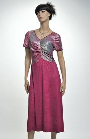 Elastické společenské šaty s ozdobným živůtkem