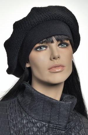 Dámská černá baretka