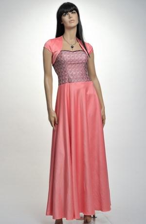 Luxusní dlouhé dívčí šaty na ramínka vhodné na ples, do tanečních, na maturiťák, na prodlouženou, vel.36