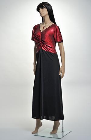 Dlouhé večerní šaty XXL s řaseným sedlem z elastické látky, vel, 46, 48
