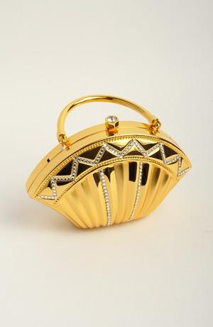 Plesová kabelka - zlatý kov