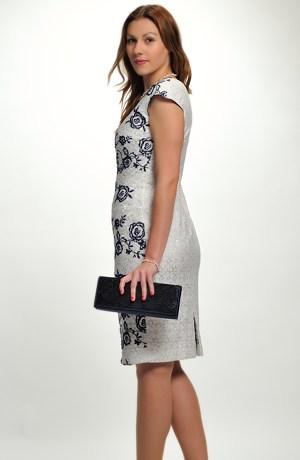 Dámské elegantní společenské šaty pokryté luxusní krajkou, vel.40 až 46