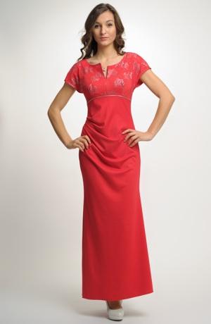 Dámské plesové šaty z elastické pleteniny.. Plesovky ve vel. 40
