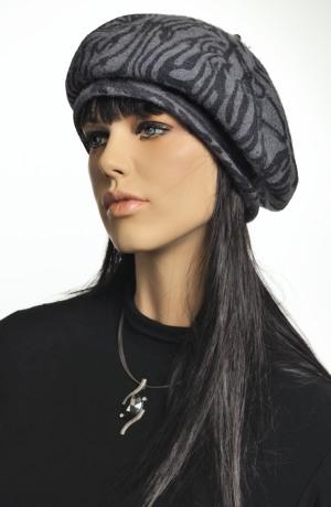 Dámský baret z vlněného filcu