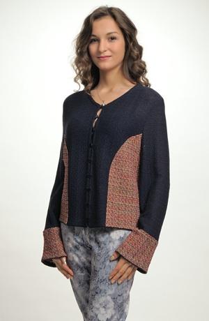 Dámský kabátek pletený