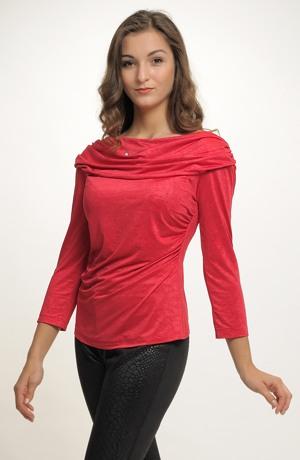 Společenské elastické tričko v různých barvách