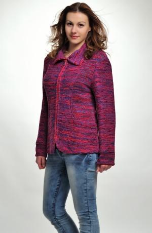 Sportovně elegantní pletený svetr na zip