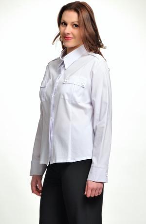 Bílá košile pro větší velikosti