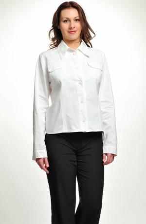 Bílé sako z přírodního materiálu