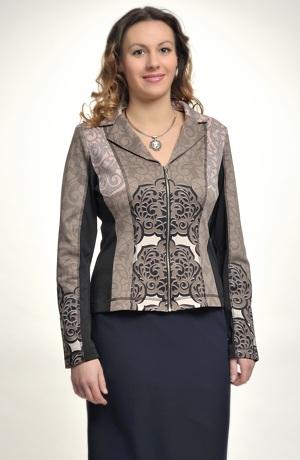 Elegantní kabátek se vzorem na zip