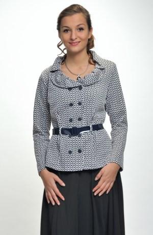Pleteninová halenka - kabátek s dlouhými rukávy