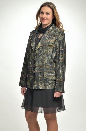 Elegantní dámské sako s módním šálovým límcem