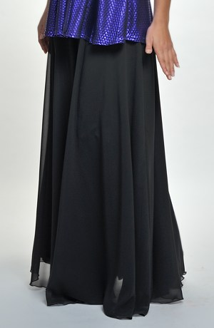 Kolová šifonová sukně