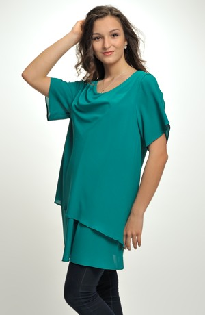 Dámská elastická tunika i pro větší velikosti XL a XXL.