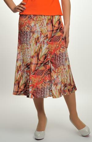 Dámská elegantní dílová sukně se vzorem