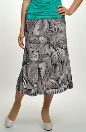 Dílová sukně z viskózové pleteniny