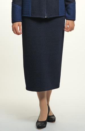 Sukně z pleteniny - tmavě modrá