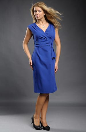 Koktejlové šaty do společnosti v královské modré
