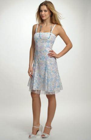 Dívčí společenské šaty na léto princesového střihu, vel. 38, 40, 42, 44