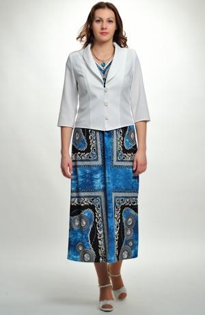 Společenské šaty s výrazným šátkovým vzorem