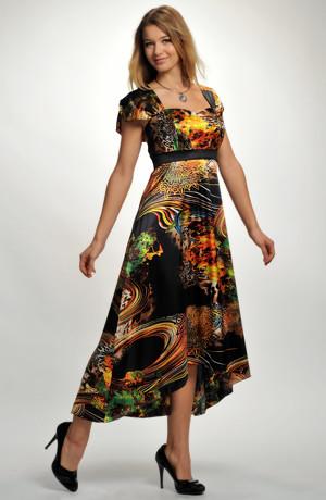 Dámské společenské šaty z luxusního materiálu s efektním potiskem. Vel. 42, 44, 46, 48