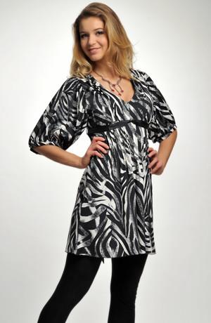 Tunikové dívčí šaty s rukávky