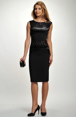 Velmi elegantní dámské krátké pouzdrovky s černou krajkou, vel. 34, 36, 38, 40