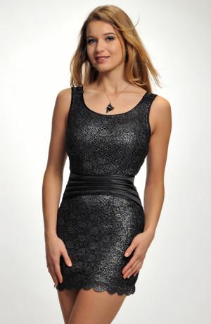 Extravagantní krajkové mini šaty na stužkovací ples, vel. 36,38