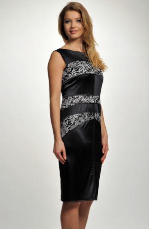 Elegantní koktejlové krajkové šaty na širší ramínka s úzkou sukní. Vel. 38, 40, 42, 44