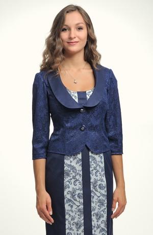 Elegantní krajkový kabátek s otevřenou fazónou s položeným límečkem